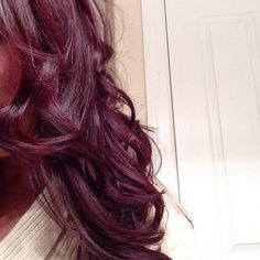 Live her hair! burgundy plum :)