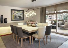 Molins Interiors // arquitectura interior - interiorismo - decoración - comedor - dining room - mesa - table - sillas - chairs - iluminación - lighting - lámpara - lamp