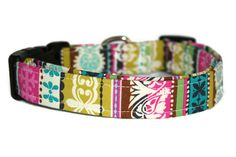 Multi Abstract Print Dog Collar by ALeashACollar on Etsy Handmade Dog Collars, Handmade Gifts, Abstract Print, Mall, Trending Outfits, Unique Jewelry, Dogs, Accessories, Vintage