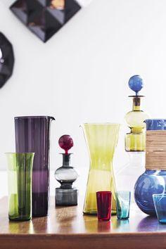 Candleholders, Midcentury Modern, Finland, Vases, Glass Art, Bottles, Design, Home Decor, Decoration Home