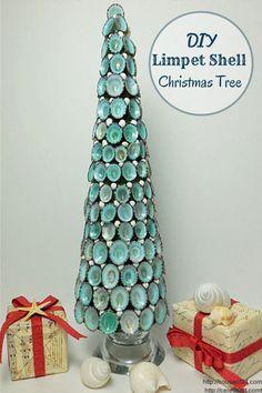 DIY Limpet Shell Christmas Tree