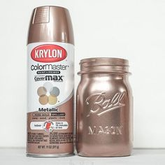 Ive had some requests for this post. Everyone wants the names Krylon Spray Paint Colors, Copper Spray Paint, Metallic Spray Paint, Spray Painting, Painting Tips, Gold Glitter Mason Jar, Mesas Para Baby Shower, Paint Color Chart, Paint Run