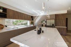 Contemporary elegant kitchen in polytec Sepia Oak RAVINE