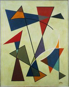 Norberto Nicola, Geométrico, ost. - dat. 1955 - med. 91 x 73 cm