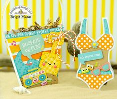 """Brigit's Scraps """"Where Scraps Become Treasures"""": Sweet Summer Gift Set - Doodlebug Design Team Project 3d Paper Crafts, Diy And Crafts, Beach Treats, Best Graduation Gifts, Shaped Cards, Cool Cards, Scrapbook Cards, Craft Projects, Print Invitations"""
