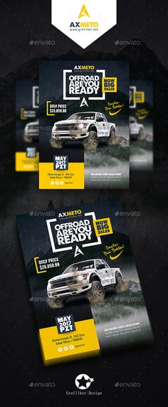OffRoad Adventure Flyer Templates — Photoshop PSD #exhibition #Riders • Download ➝ https://graphicriver.net/item/offroad-adventure-flyer-templates/19088027?ref=pxcr