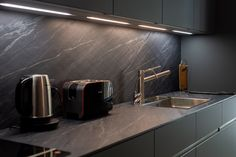#ARRITAL #ARRITALkitchen #LEDlights #kitchenlights #kitchencabinetlights #kitchenlightsinspiration #kitcheninspiration #modernkitchen #KUXAstudio #KUXA #KUXAkitchen #bucatariemoderna Kitchen Units, Kitchen Accessories, Modern, Sink, The Unit, Led, Lights, Inspiration, Studio