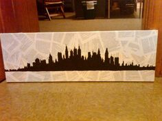 3 ft canvas plastered with book pages from The Great Gatsby, acrylic paint on top - my newest project