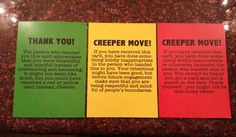 The Great Geek Sexism Debate; Also, crazy sweet creeper move cards.  Let people know when they've crossed a line!