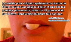 Le Remède Secret Pour Faire Disparaître un Bouton de Fièvre sur la Lèvre.   Découvrez l'astuce ici : http://www.comment-economiser.fr/soigner-bouton-fievre-levre.html