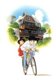 "ghibli-collector: ""耳をすませば Whisper of the Heart - Dir Yoshifumi Kondo "" Totoro, Studio Ghibli Art, Studio Ghibli Movies, Manga Anime, Anime Art, Hayao Miyazaki, Yoshifumi Kondo, Arte Disney, Animation Film"