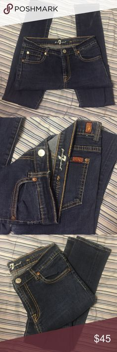 """7 for all man kind """"the skinny"""" jeans 7 for all man kind """"the skinny"""" jeans,  girls size 14, in good condition, has been in my closet for far too long without use 7 For All Mankind Bottoms Jeans"""