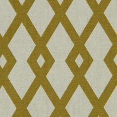 Graphic Fret Citrine Drapery Fabric by Robert Allen