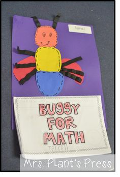Love these insect math journals!