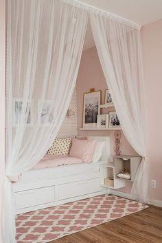 Small Room Bedroom, Cozy Bedroom, Girls Bedroom, Small Toddler Rooms, Kura Ikea, Design Your Own Home, Girl Bedroom Designs, Little Girl Rooms, New Room