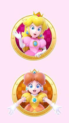 Peach and Daisy Super Mario Bros, Super Mario 1985, Super Mario Brothers, Super Smash Bros, Mario Princess Daisy, Nintendo Princess, Princess Peach Party, Super Princess Peach, Princess Power