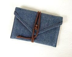 Denim Wallets: A denim wallet will keep your money and important cards safe.   Source: Etsy User belrossa
