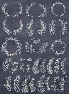 Lettering Fonts Discover Laurel Wreath Clipart Wreath Clip Art Laurel Wreath PNG Botanical Clipart Hand Drawn Clip Art Floral Wreath Vector PNG Commercial Use Brosses Photoshop, Photoshop Brushes, Design Set, Web Design, Logo Design, Pattern Design, Lettering Design, Print Design, Design Ideas