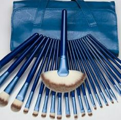 24 pcs Mac inspired celibrity designer  brush kit 24 pcs Mac inspired celibrity designer  brush kit get that runway model finished  air brush look non hypoallergenic  and high quality  this is not the little cheap ones sold on posh it's the jumbo set over 2 feet long with a caring case Makeup Brushes & Tools