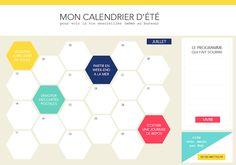 Un calendrier d'été à imprimer - Vie de Miettes