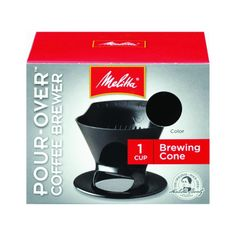Best Cheap Pour Over Coffee Maker: Melitta Ready Set Joe Single Cup Coffee Brewer Coffee In A Cone, Pour Over Coffee Maker, My Coffee, Drip Coffee, Coffee Shop, Man Cave Kitchen Ideas, Melitta Coffee Maker, Seductive Makeup, Chocolate Covered Coffee Beans