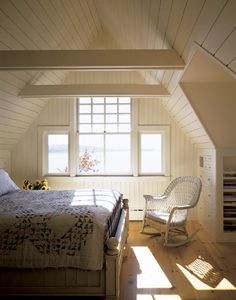 Cottage on a Point - cozy gable bedroom
