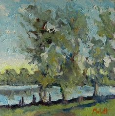 Heidi Malott Original Paintings: Contemporary Impressionism Landscape Fishing Oil Painting