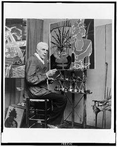Georges Braque in his Paris studio