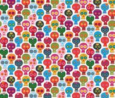 CALAVERAS fabric by katerhees on Spoonflower - custom fabric