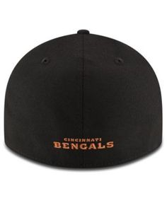 New Era Cincinnati Bengals Team Basic Low Profile 59FIFTY Fitted Cap - Black 7 1/8