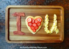 Valentine Breakfast Idea from KitchenFunWithMy3Sons.com