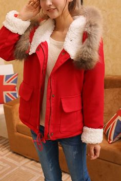 Hooded Padded Coat with Faux Fur Lining $100