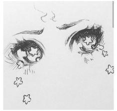 Anime Drawings Sketches, Pencil Art Drawings, Cool Art Drawings, Realistic Drawings, Drawings Of Eyes, Hipster Drawings, Pencil Sketching, How To Draw Anime Eyes, Anime Eyes Drawing