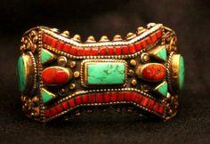 Tibetan wrathful diety bracelet by SilkRoadJewelry
