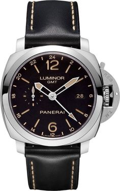 men watches Panerai Luminor Automatic Black Dial Black Leather Mens Watch PAM00531 Mens top watch