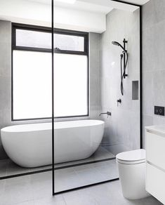 😬 This BLUE DREAM in the pretty Melbourne 'burb of Elsternwick sets the bar intimidatingly high for First Time Renovators . Wet Room Bathroom, Diy Bathroom Decor, Bathroom Renos, Bathroom Layout, Modern Bathroom Design, Bathroom Interior Design, Bathroom Flooring, Bathroom Renovations, Small Bathroom