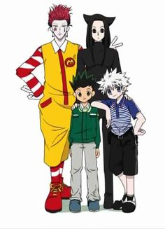 Hisoka, Illumi, Gon, and Killua… Haha! XD        ~Hunter X Hunter