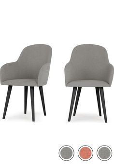 MADE Set Of 2 High Back Carver Dining Chairs, Manhattan Grey & Black. Stig Dining Chairs Collection from pi High Back Dining Chairs, Occasional Chairs, Grey Fabric, Industrial Furniture, Manhattan, Building A House, Delivery, Table, Collection