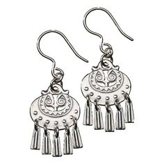 Kalevala Moon Goddess Silver Earrings - Small Introduce these stunning silver earrings by Kalevala into your wardrobe and you can be sure to receive your fair share of compliments. Kalevala is a treasure house of striking jewelry motifs from the . Silver Hoop Earrings, Silver Necklaces, Silver Jewelry, Drop Earrings, Viking Ornament, Silver Rings With Stones, Folk Fashion, Moon Goddess, Steel Metal