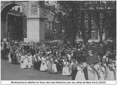 manifestación polo voto feminino. NYC 1913