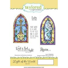 Light of the World...red rubber cling stamp