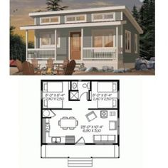 ePlans Tiny Country House 66032