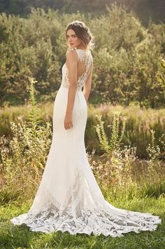 Sheer Wedding Dress, Fit And Flare Wedding Dress, Perfect Wedding Dress, Boho Wedding, Wedding Ideas, Fall Wedding, Wedding Stuff, Lillian West, Hippie Rock
