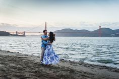 The Golden Gate Bridge is the perfect backdrop for a San Francisco engagement!