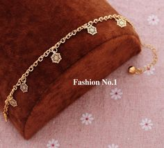 Fashion Crystal Bracelets Jewelry For Women Trench Charm Link Chain Gold Plated Vintage Flower Pendants Bracelets Bangles