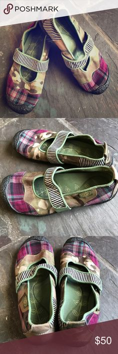 Keen colorful patchwork Mary Jane shoes size 9.5 Keen colorful patchwork Mary Jane style shoes size 9.5. Good used condition. Keen Shoes Flats & Loafers