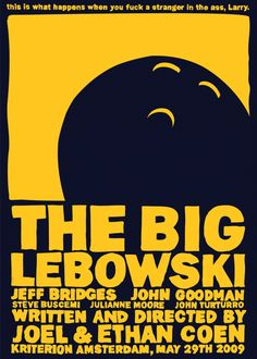 The Big Lebowski by Vasco Valentim a la Minimal Movie Posters