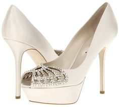 Pretty Off White Jeweled Butterfly Pumps Wedding Shoes