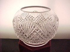 1890s EAPG Clear Rose Bowl in Shepherds Plaid or Pineapple &
