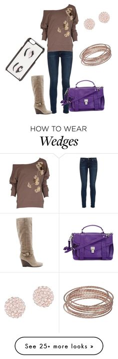 """""""Casual Day"""" by devorah-wells on Polyvore featuring rag & bone, French Connection, Sole Society, Swarovski, Proenza Schouler, LC Lauren Conrad and Kate Spade"""